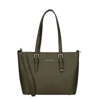 Flora & Co Shoulder Bag Saffiano Small Khaki
