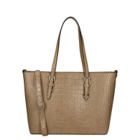 Flora & Co Shoulder Bag Shopper Croco Taupe