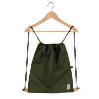 The Pack Society The Gymsack Rugzak Solid Forest Green
