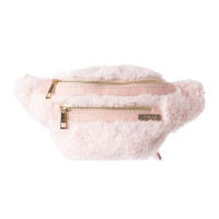 Spiral Black Label Bum Bag Faux Fur Pink