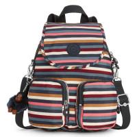 Kipling Firefly Up Backpack Multi Stripes Block