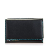 Mywalit Medium Tri-Fold Wallet Outer Zip Portemonnee Black/ Pace