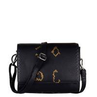 Cowboysbag X Bobbie Bodt Bag Sapphire Schoudertas Snake Black And Gold