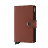 Secrid Mini Wallet Portemonnee Matte Brick