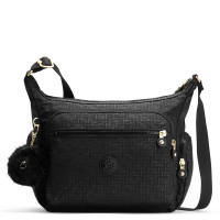 Kipling Gabbie Schoudertas Black Pylon Embossed