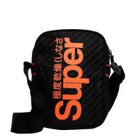 Superdry Hamilton Pouch Bag Black AOP