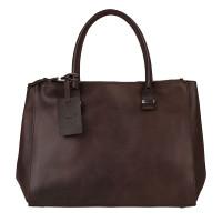Burkely Vintage Wieske 2-Zipper Shoulder Bag Brown