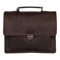 Burkely Vintage Scott Briefcase Brown