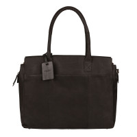 "Burkely Vintage Doris Laptop Bag 15.6"" Schoudertas Black"