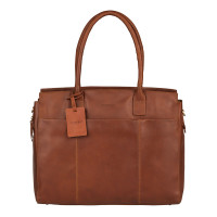 "Burkely Vintage Doris Laptop Bag 15.6"" Schoudertas Cognac"