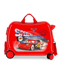 Disney Rolling Suitcase 4 Wheels Cars Speed Trails