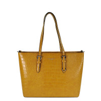 Flora & Co Shoulder Bag Shopper Croco Yellow