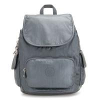 Kipling City Pack S Backpack Steel Grey Metallic