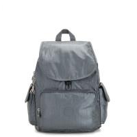 Kipling City Pack Backpack Steel Grey Metallic