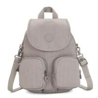 Kipling Firefly Up Backpack Grey Beige Peppery