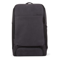 Salzen Alpha Backpack Leather Charcoal Black
