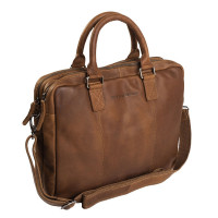 "Chesterfield Laptoptas Floris 15.6"" Cognac"