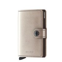 Secrid Mini Wallet Portemonnee Metallic Champagne Brown