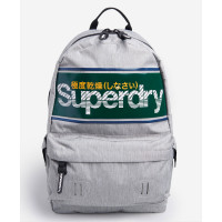 Superdry Montana Stripe Logo Backpack Grey Marl
