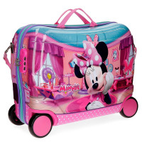 Disney Rolling Suitcase 4 Wheels Minnie Smile