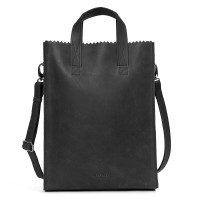 Myomy My Paper Bag Short Handle Cross-Body Hunter Off Black
