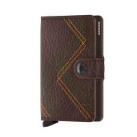 Secrid Mini Wallet Portemonnee Stitch Linea Espresso