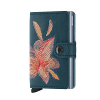 Secrid Mini Wallet Portemonnee Stitch Magnolia Petrolio