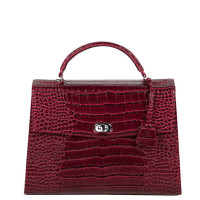 "Socha Audrey Businessbag 13.3"" Croco Burgundy"