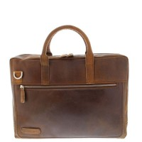 "Plevier Business/Laptoptas 2-Vaks 15.6"" Dark Brown 38"