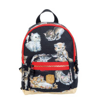 Pick & Pack Cute Rugzak M Kittens Black
