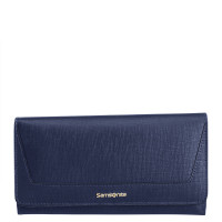 Samsonite Lady Saffiano II SLG Lady Wallet 14CC Zip Coin Midnight Blue