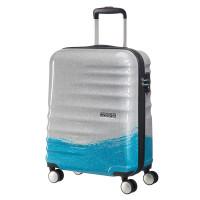 American Tourister Wavebreaker Spinner 55 Limited Summer Edition Brushed Blue