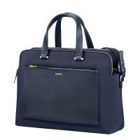 "Samsonite Zalia Organized Bailhandle 14.1"" Dark Blue"