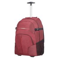 Samsonite Rewind Laptop Backpack Wheels 55 Granita Red