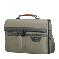 "Samsonite Zenith Briefcase 2 Gussets 15.6"" Taupe"