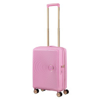 American Tourister Soundbox Spinner 55 Exp. Pearl Pink/Gold