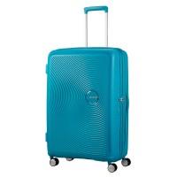 American Tourister Soundbox Spinner 77 Exp. Summer Blue