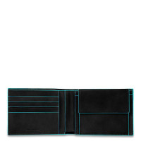 Piquadro Blue Square Men's Wallet With Coin Pocket Night Blue