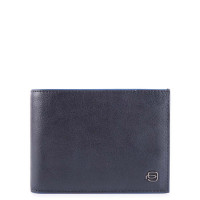 Piquadro Blue Square S Matte Men's Wallet With Coin Pocket Blue