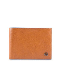 Piquadro Blue Square Men's Wallet With Coin Pocket Tobacco