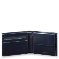 Piquadro Blue Square Men's Wallet With Coin Case Night Blue