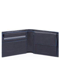 Piquadro Blue Square S Matte Men's Wallet With Coin Pocket Night Blue