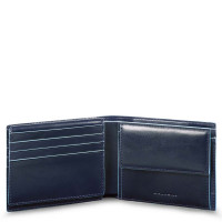 Piquadro Blue Square Men's Wallet With Flip Up/Coin Pocket Night Blue