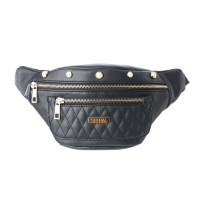 Spiral Black Label Bum Bag Quilted Pearl- Black