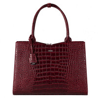 "Socha Businessbag Croco 14-15.6"" Crocodile Burgundy"