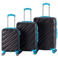 Decent Lumi Fix 3-Delige Kofferset Black/Blue