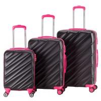 Decent Lumi Fix 3-Delige Kofferset Black/Pink