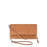 LouLou Essentiels Robuste Mobile Bag Portemonnee Cognac