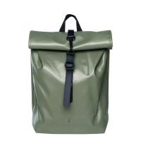 Rains Original Roll Top Mini Backpack Shiny Olive