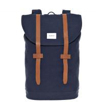 Sandqvist Stig Backpack Blue/Cognac
